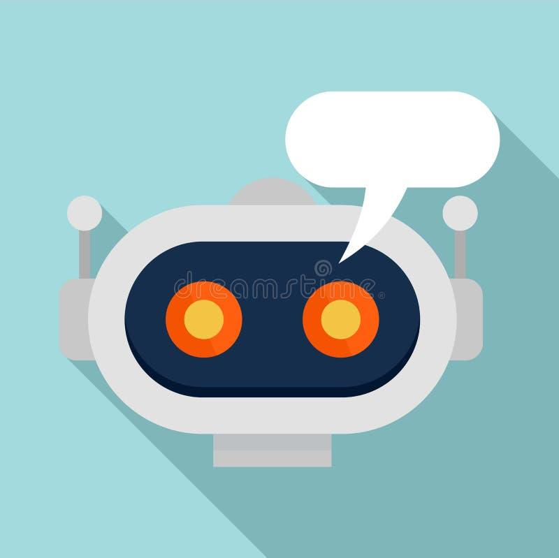 Chatbot ikona, mieszkanie styl ilustracja wektor