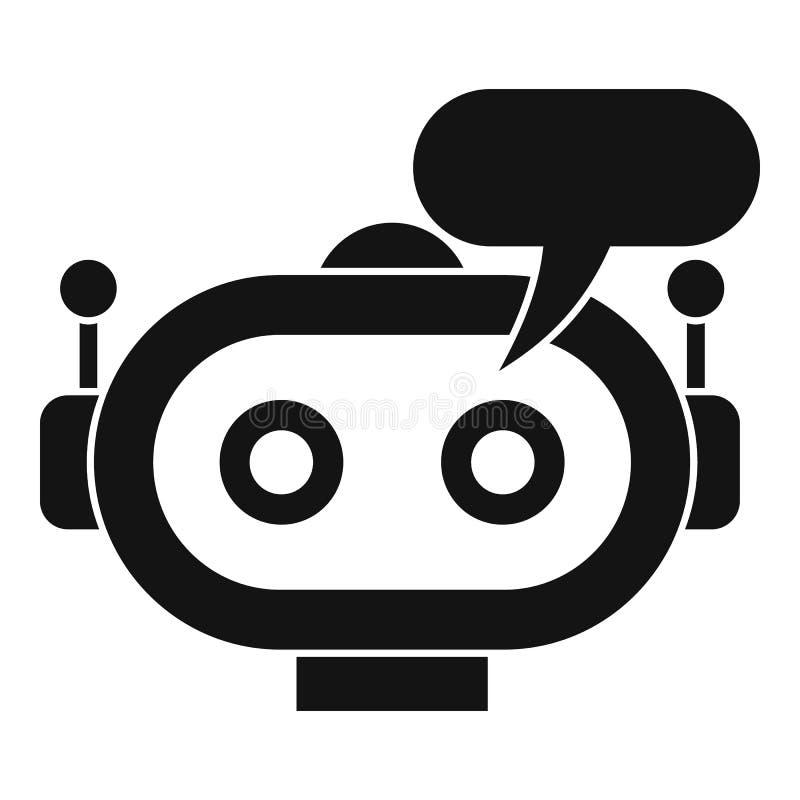 Chatbot ikona, prosty styl ilustracja wektor