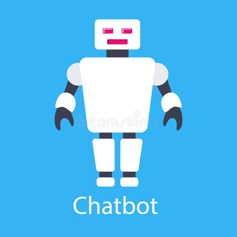 Chatbot ilustracja To jest wektorowy ilustracja obrazy royalty free
