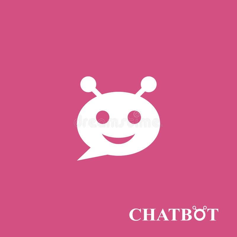 Chatbot ou concept d'icône de chatterbot illustration libre de droits