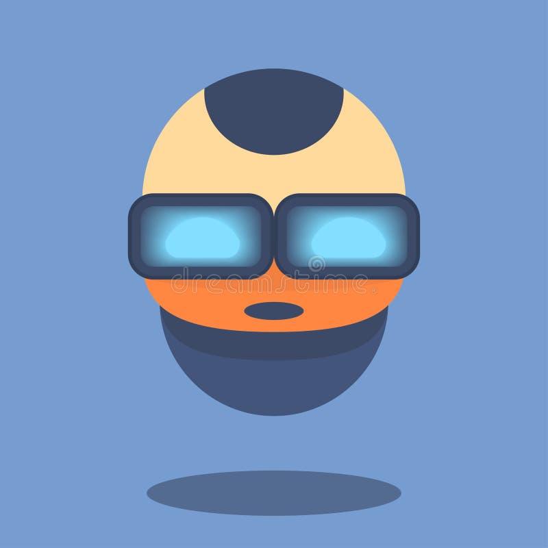 Chatbot ou talkbot mignon dans le style plat Consultation en ligne utilisant l'intelligence artificielle Illustration de vecteur illustration stock