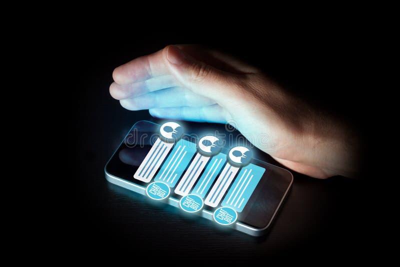 Chatbot smart phone artificial intelligence communication stock photos