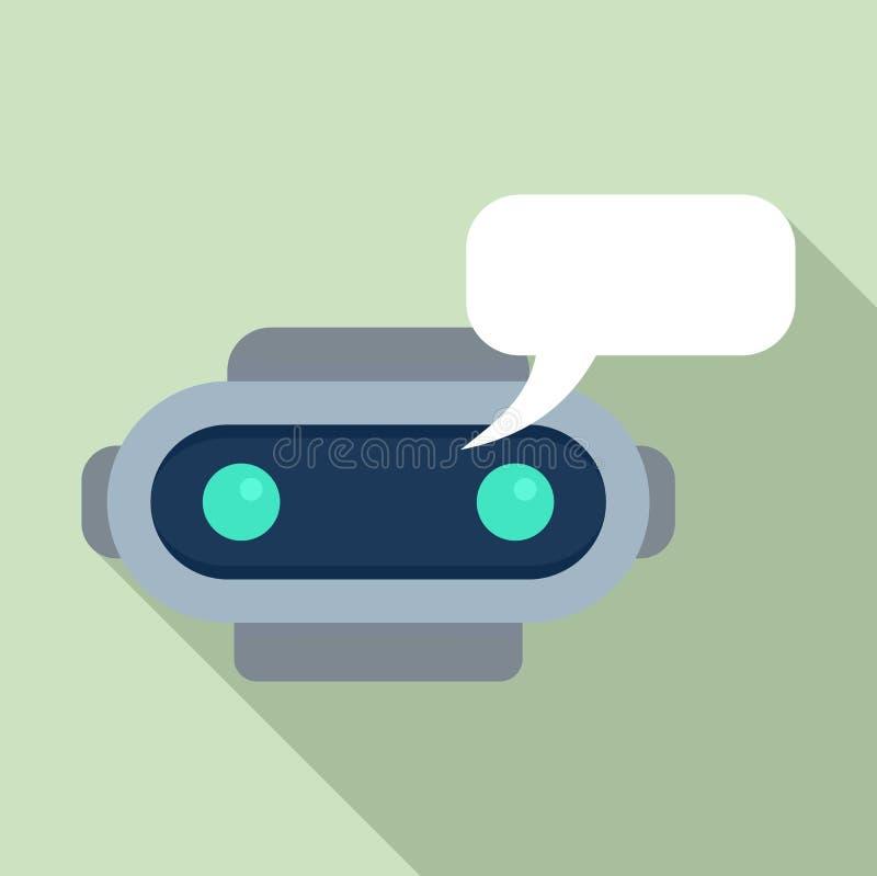 Chatbot sms ikona, mieszkanie styl ilustracja wektor
