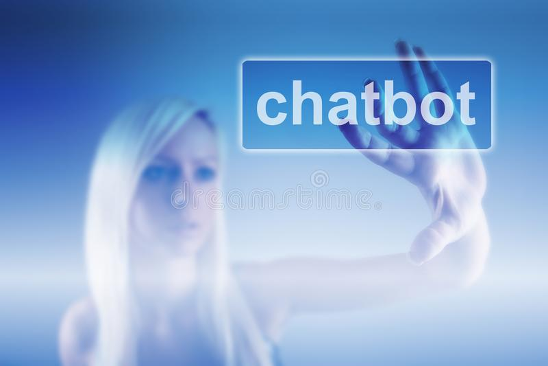 Chatbot y concepto futuro de la comunicación fotografía de archivo