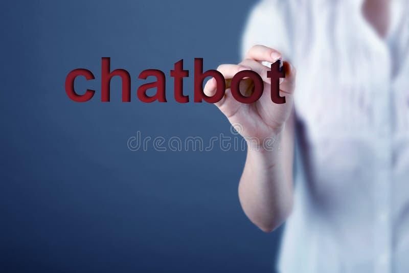 Chatbot y concepto futuro de la comunicación imagen de archivo libre de regalías