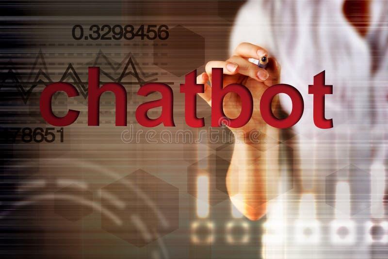 Chatbot y concepto futuro de la comunicación fotos de archivo libres de regalías