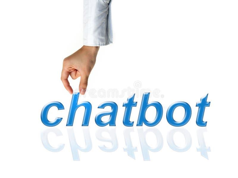 Chatbot y concepto futuro de la comunicación foto de archivo libre de regalías