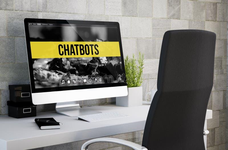 chatbots industriales del espacio de trabajo ilustración del vector