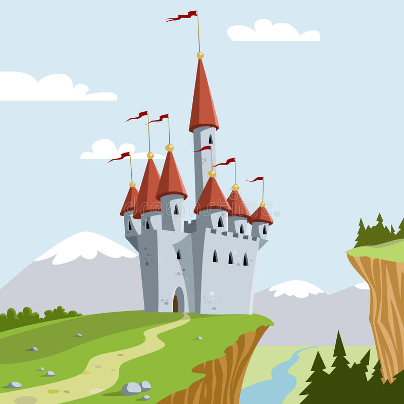 Chateau royalty free illustration