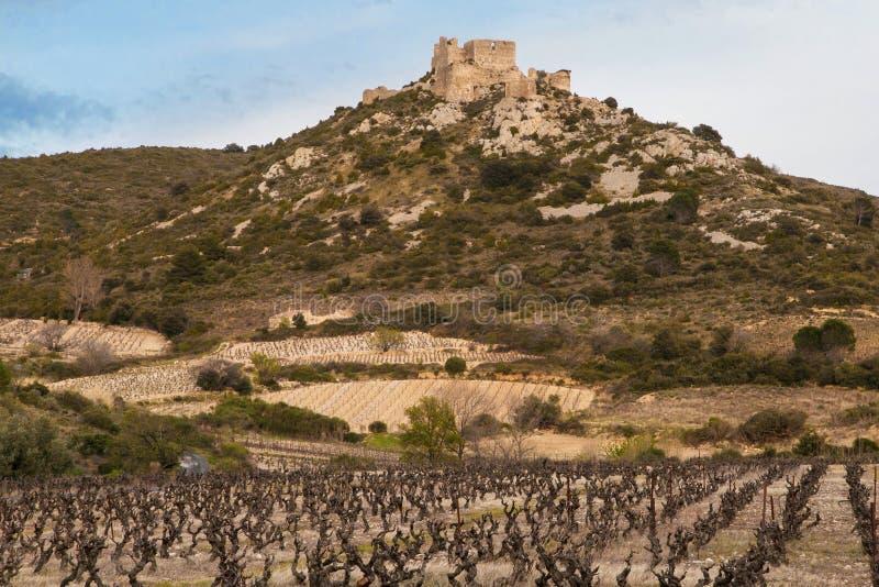 Chateau Aguilar arkivfoto