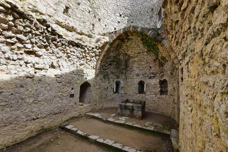 Chateau Aguilar in Frankrijk royalty-vrije stock afbeelding