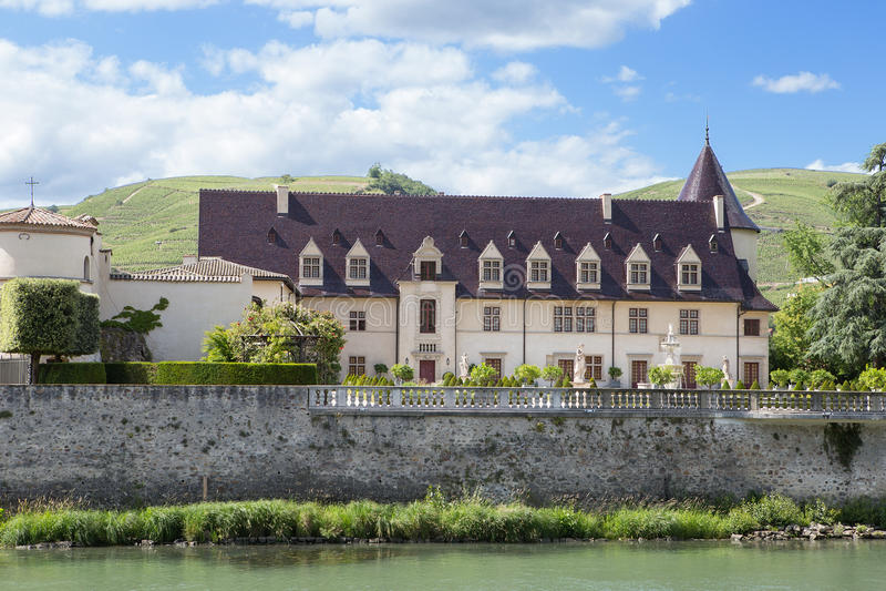Chateau in Ampuis, Auvergne-Rhône-Alpes stock image