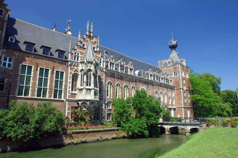 Chateau Arenbergh, Belgium royalty free stock image