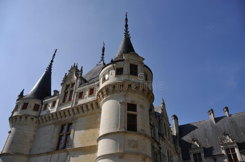 Chateau Azay-Le-Rideau stockbild