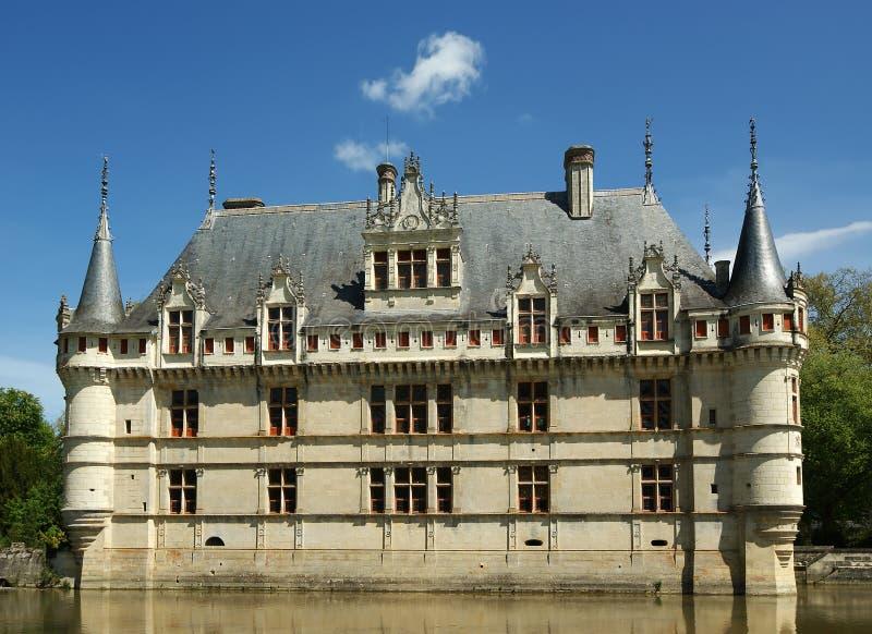 Chateau azay-le-Rideau, de Loire, Frankrijk royalty-vrije stock afbeelding