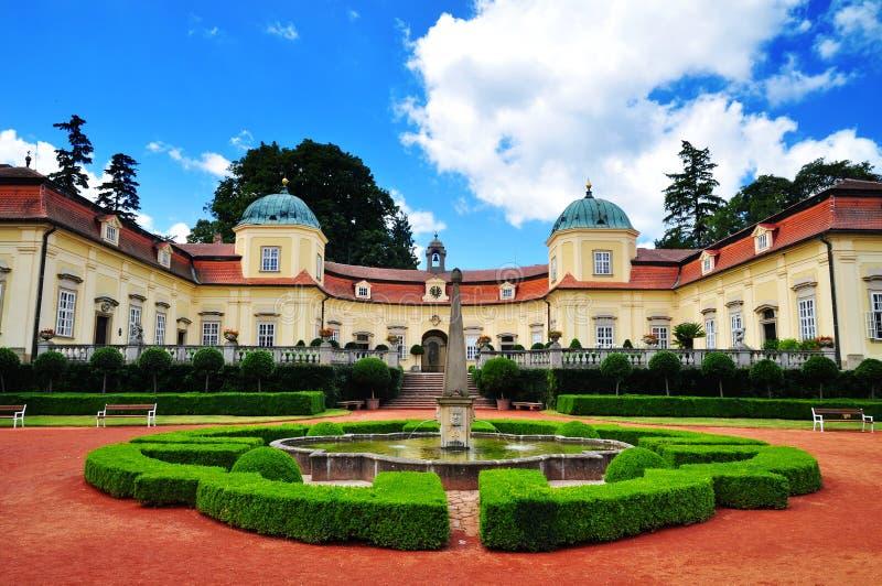 Chateau Buchlovice stock photo