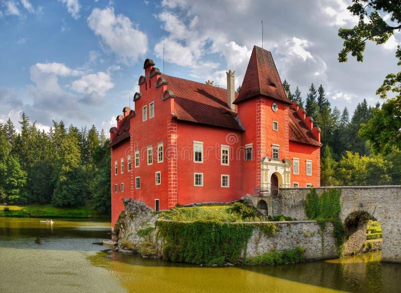 Chateau Cervena Lhota, Landmark stock photography