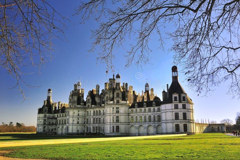 Chateau Chambord Castillo de Chambord arkivfoton