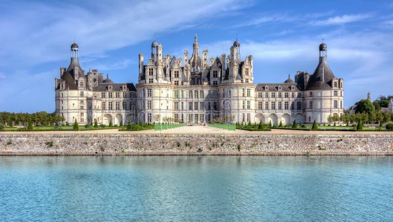 Chateau Chambord van het Chambordkasteel in de Loire-vallei, Frankrijk royalty-vrije stock foto's