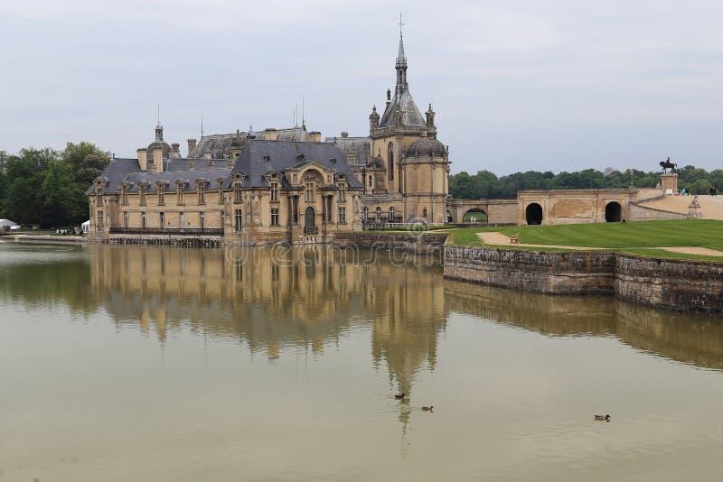 Chateau Chantilly, Frankreich lizenzfreies stockbild