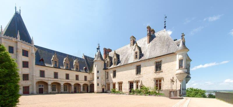 Chateau Chaumont-s-Loire. Chaumont-s-Loire, France - June 8, 2014: Chateau Chaumont-s-Loire. The patio stock image
