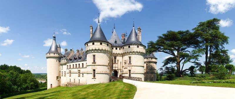 Chateau Chaumont-s-Loire. Chaumont-s-Loire, France - June 8, 2014: Chateau Chaumont-s-Loire. View of part of the castle and the garden circumstances stock photos