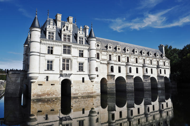 Chateau Chenonceau royalty-vrije stock afbeelding