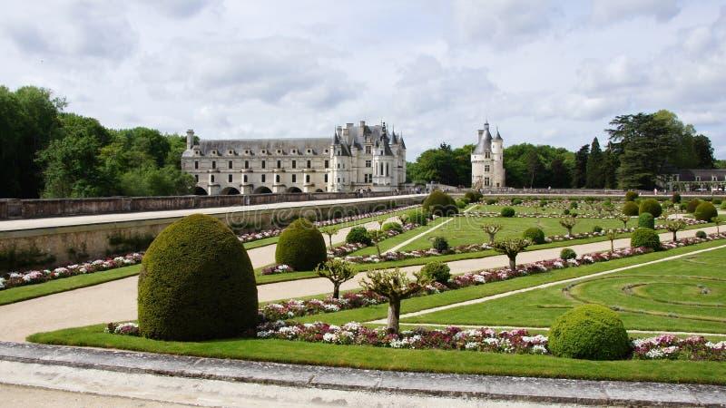 Chateau Chenonceau i Loire Valley arkivfoto