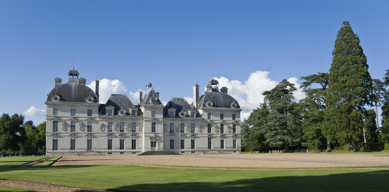 Chateau Cheverny royalty-vrije stock foto's