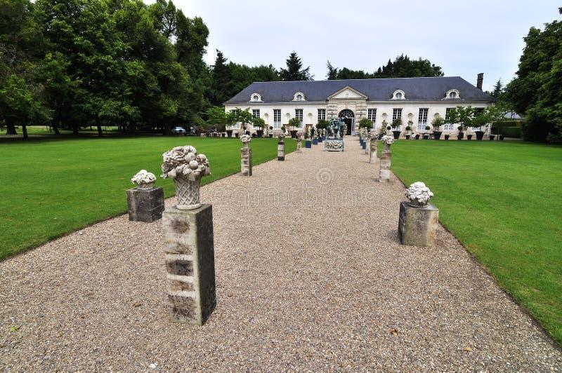 Chateau Cheverny in Frankrijk stock foto