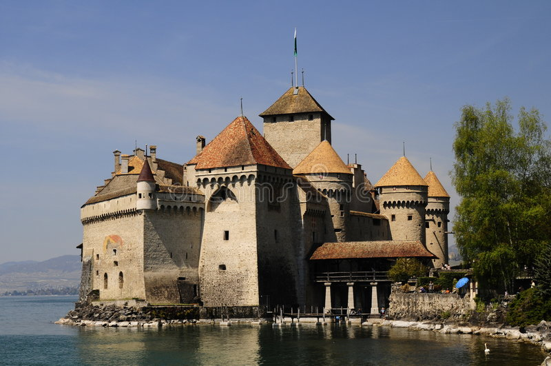 Chateau Chillon royalty-vrije stock afbeeldingen