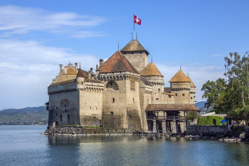 Chateau Chillon - Zwitserland royalty-vrije stock foto's