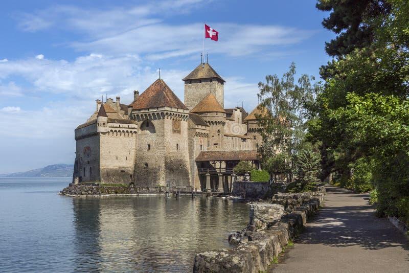 Chateau Chillon - Zwitserland stock foto