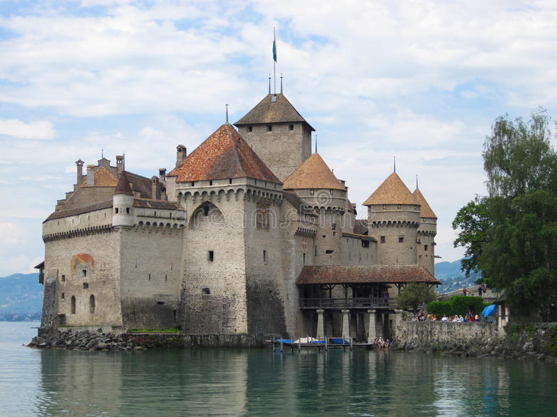 Chateau Chillon, Zwitserland stock afbeelding