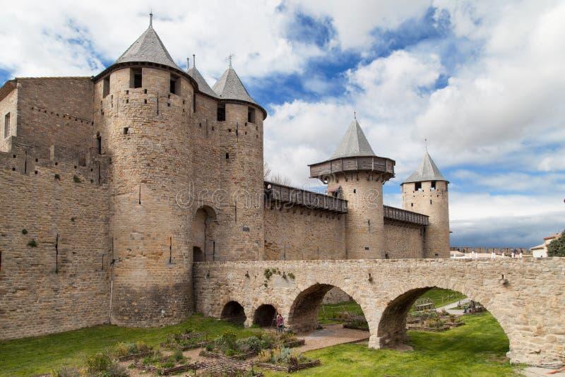 Chateau Comtal stock afbeeldingen