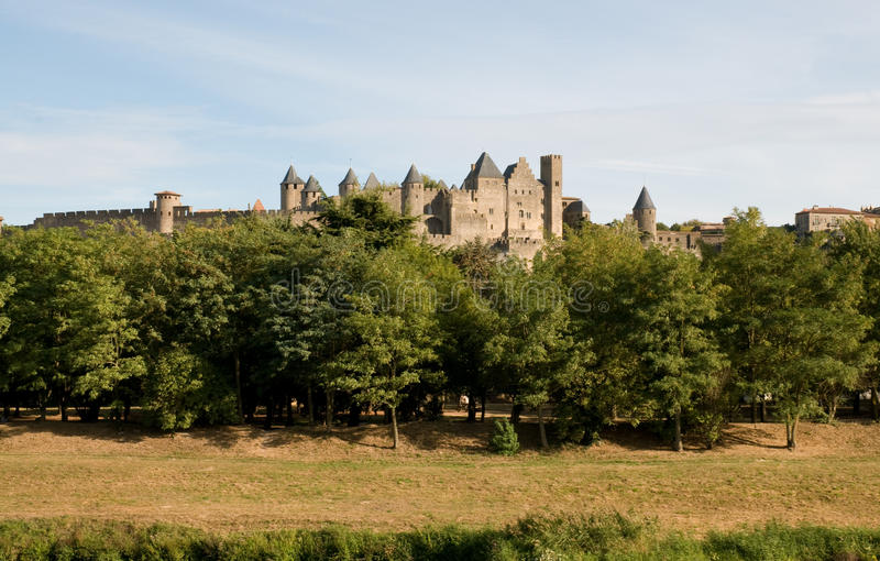 Download Chateau Comtal Carcassonne stock photo. Image of carcassonne - 12372318