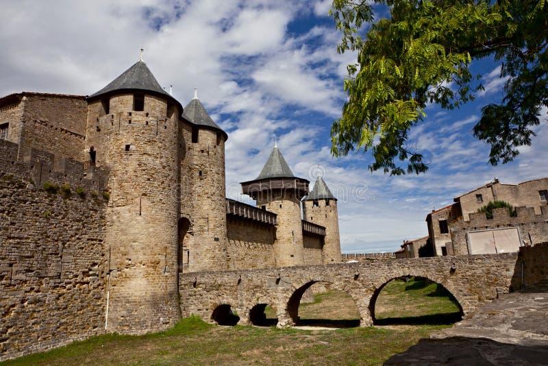 Chateau Comtal der Carcassonne-Festung lizenzfreies stockfoto
