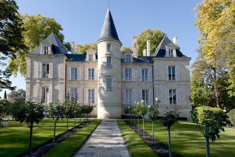 chateau comtesse de lalande longueville pichon στοκ φωτογραφίες