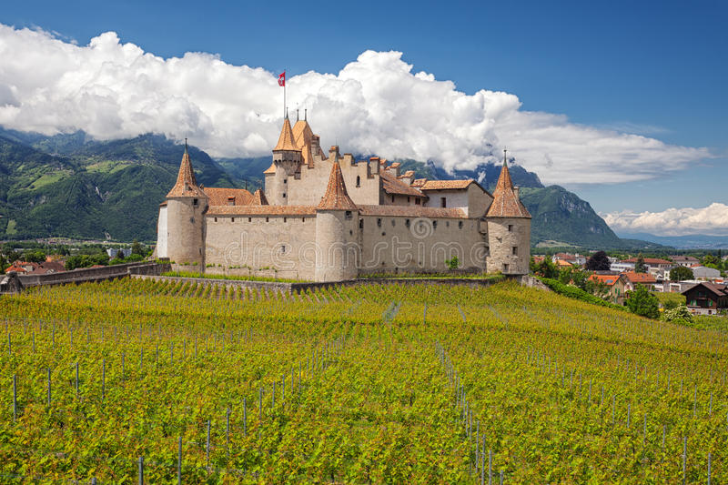Chateau d'Aigle, Switzerland royalty free stock photos