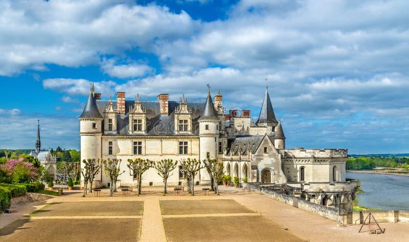 Chateau D ` Amboise, één van de kastelen in de de Loire-Vallei - Frankrijk royalty-vrije stock afbeelding