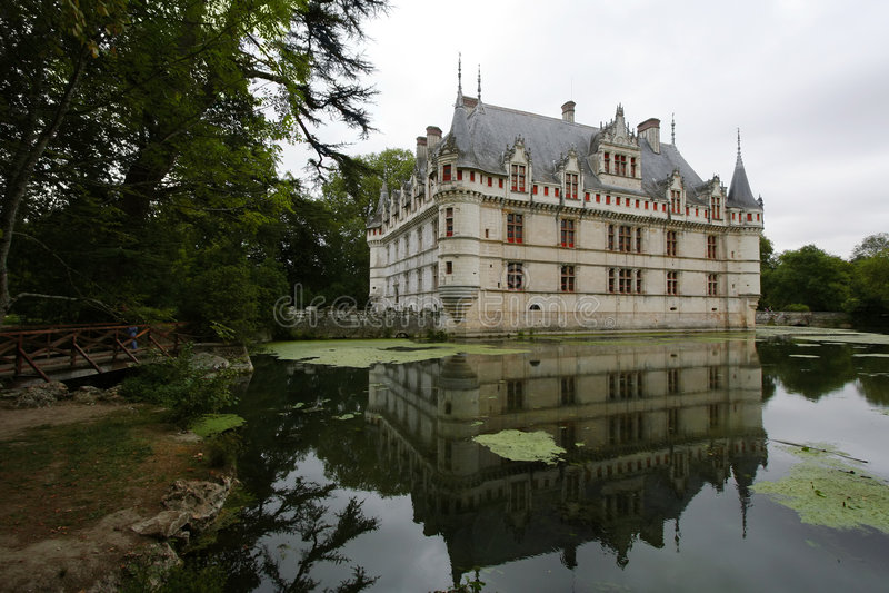 Chateau d'Azay-le-Rideau immagine stock