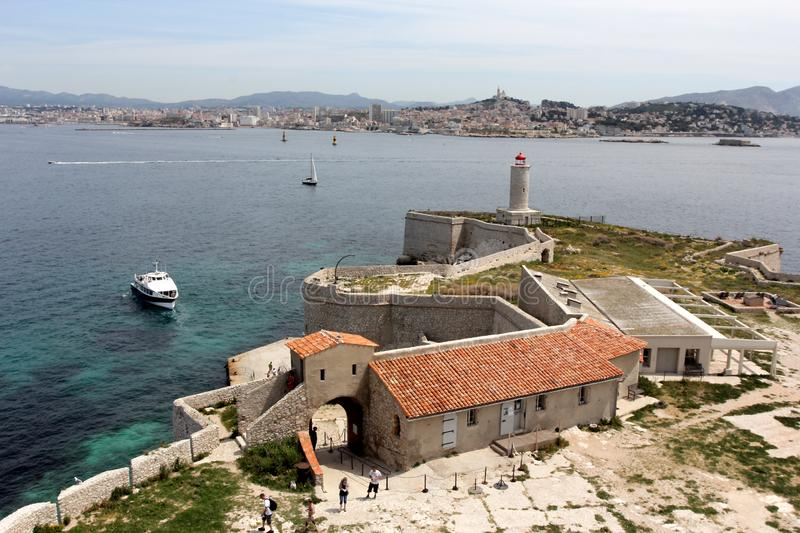Chateau d If in Marseille stock photography