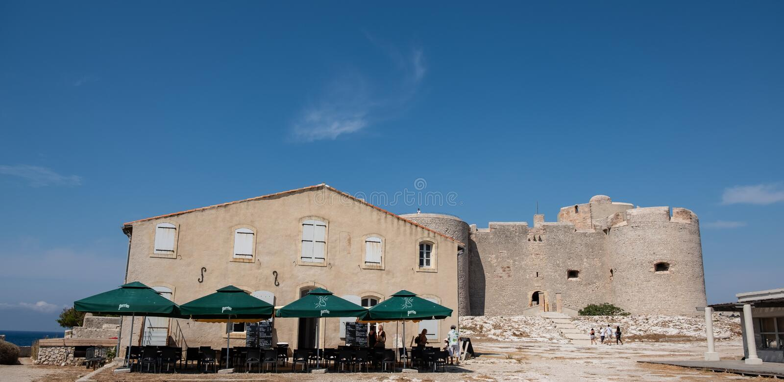 The island of Chateau d`If, Marseille , France royalty free stock images