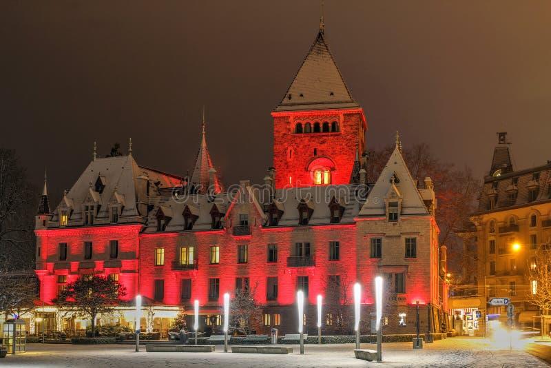 Chateau d'Ouchy, Losanna, Svizzera immagine stock libera da diritti