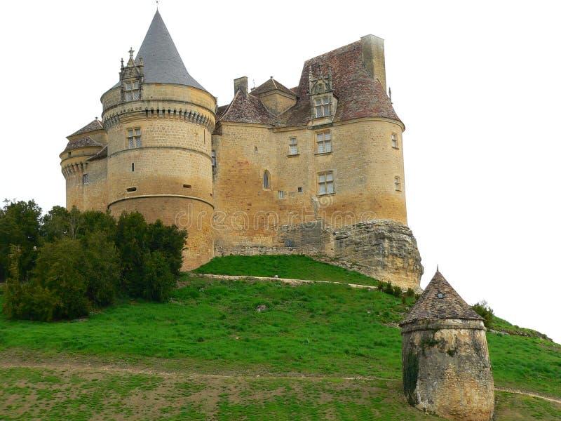 Chateau de Bannes, Beaumont du Perigord ( France ) stock photo