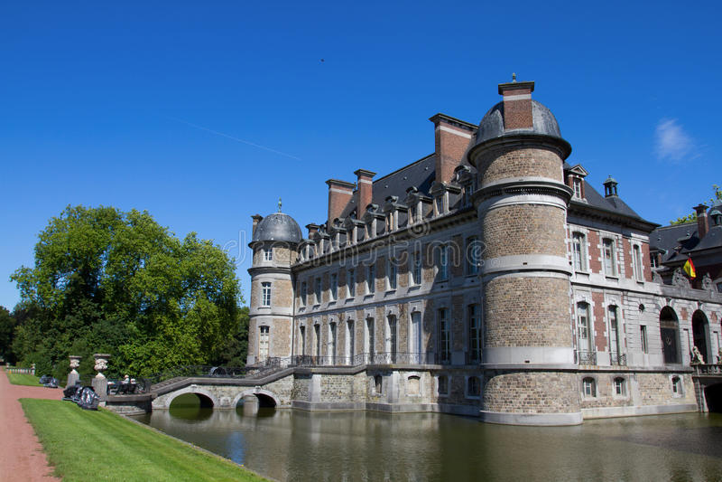 Chateau de Beloeil royalty free stock photo