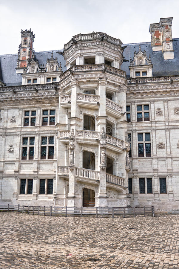Chateau DE Blois. Beroemde wenteltrap royalty-vrije stock foto's