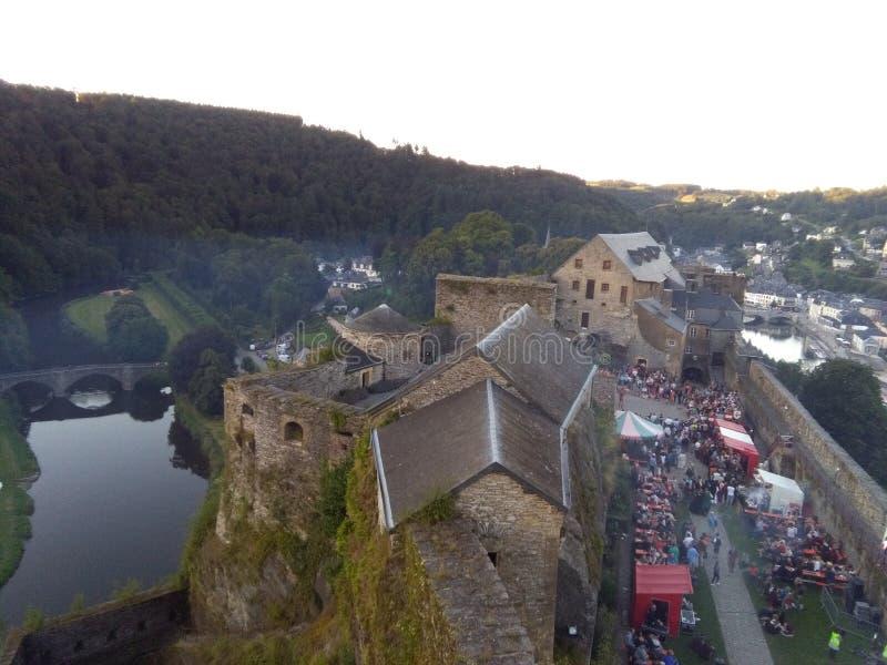 Chateau de Bouillon stockbild