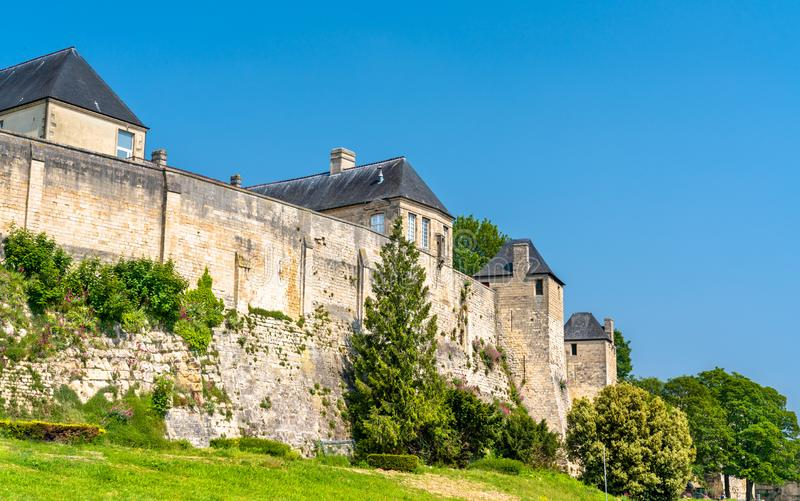 The Chateau de Caen, a castle in Normandy, France royalty free stock image