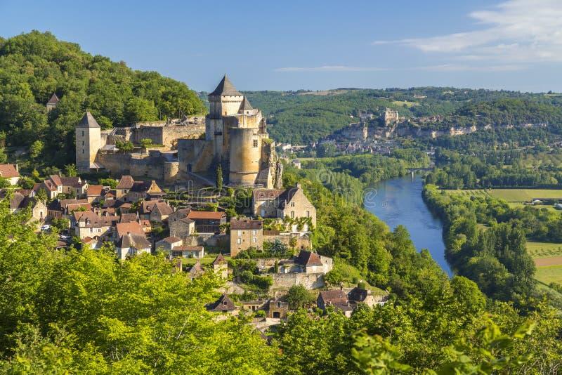 Chateau de Castelnaud arkivfoto